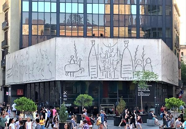 バルセロナ「ゴシック地区・旧市街」にある「ピカソの線画」