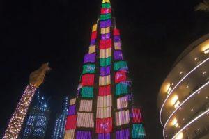 「ドバイ」にある世界一の高層タワー「ブルジュハリファ」のプロジェクションマッピング映像