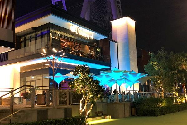 ドバイの新名所「ブルーウォーターアイランド」にある、おしゃれな「レストラン」