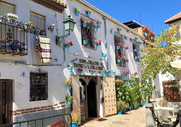「グラナダ」アルバイシン地区の街並み風景