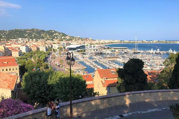 フランス「カンヌ」港の風景