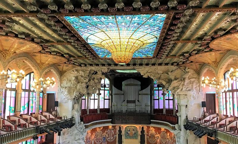 スペイン「バルセロナ」の世界遺産「カタルーニャ音楽堂」